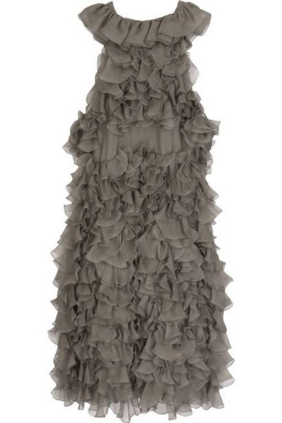 Moschino chiffon ruffle dress 400x600 Designer Crochet: Franco Moschino