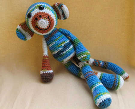 amigurumi  Etsy Crochet Pattern: Mandy the One Skein Monkey