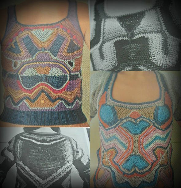 arlene stimmel vintage freeform crochet Edgy 1970s Crochet Designers: Arlene Stimmel
