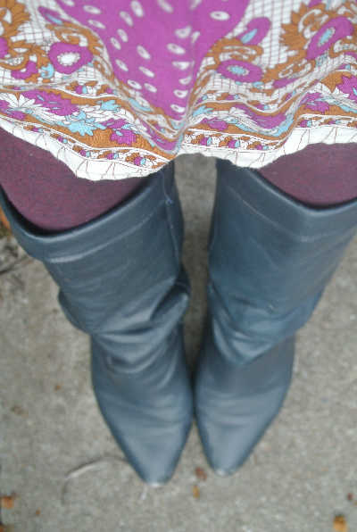 blue boots 365 Ways to Wear Crochet: Blue Fingerless Gloves