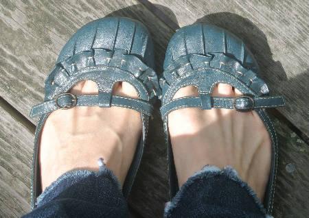 blue shoes2 365 Ways to Wear Crochet: Storebought Sweater