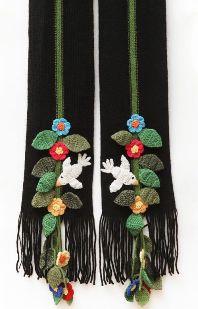 cardigan brand scarf Designer Crochet Project: Donna Karan
