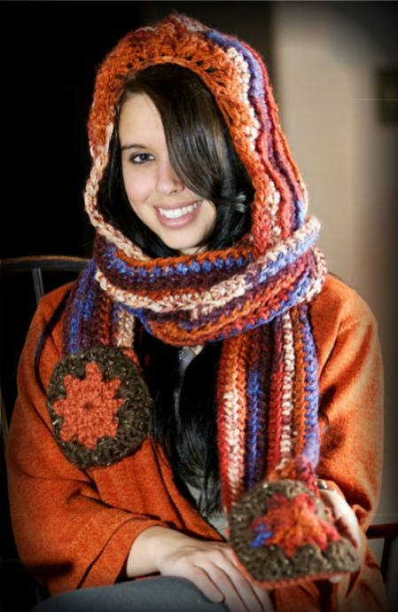 creative crochet hooded scarf 100 Unique Crochet Scarves