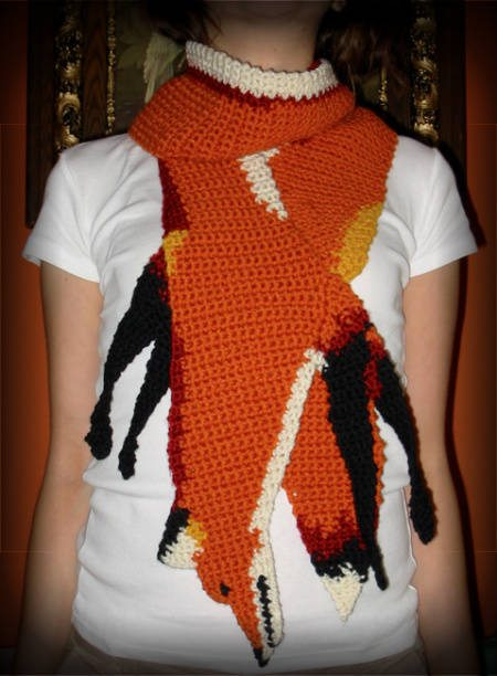 crochet animal scarf 100 Unique Crochet Scarves