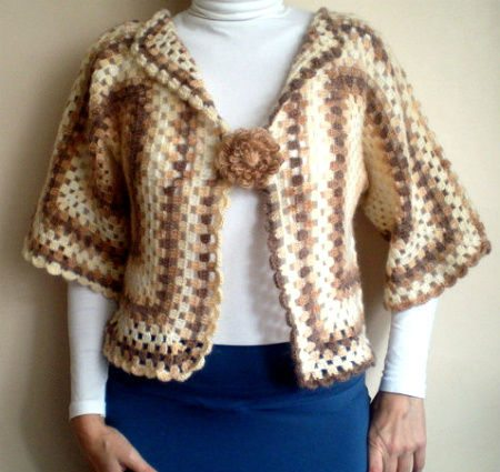 Etsy Crochet: Brown Bolero