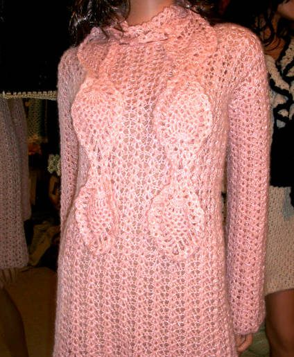 Etsy Crochet Mohair Dress With Matching Scarf Crochet Patterns