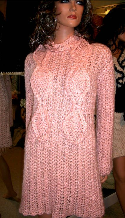 Post image for Etsy Crochet: Mohair Dress with Matching Scarf