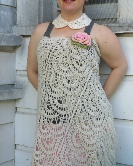crochet dress3 365 Ways to Wear Crochet: Shawl as Dress