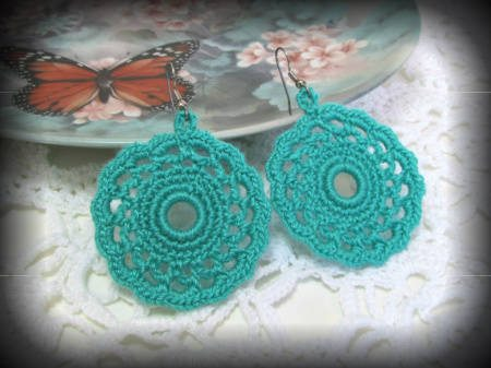 crochet earrings One Year Ago in Crochet 3/11   3/17
