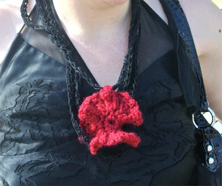 crochet flower detail 365 Ways to Wear Crochet Goes Camping