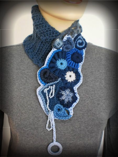 crochet freeform scarf 100 Unique Crochet Scarves