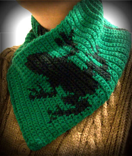 crochet frog scarf 100 Unique Crochet Scarves