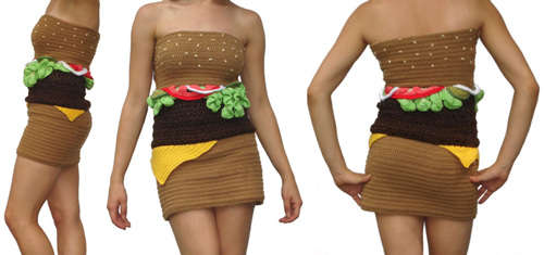 crochet hamburger dress