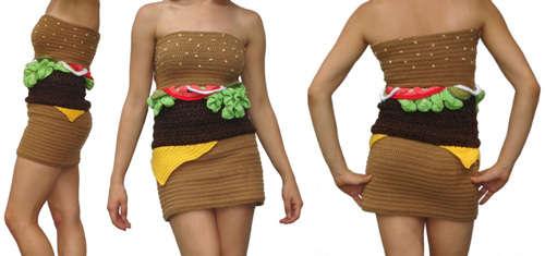 crochet hamburger dress