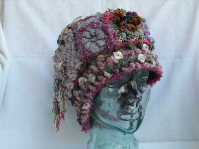 crochet hat 400x300 The Artistic Crochet Hats of Genna Miles