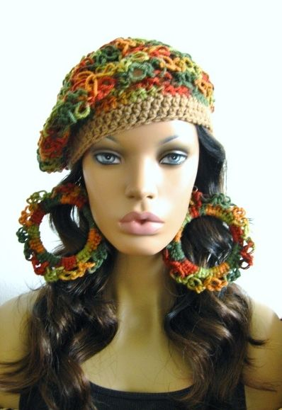 crochet hat and earrings 100 Unique Crochet Hats