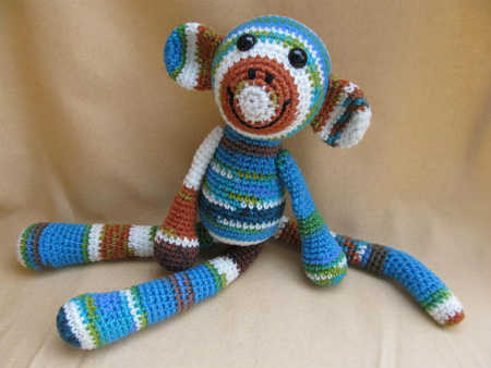 Post image for Etsy Crochet Pattern: Mandy the One Skein Monkey