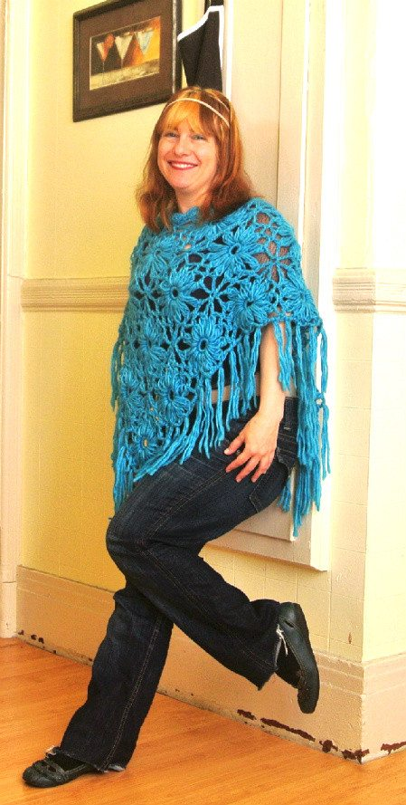 crochet poncho1 Style Post: Crochet Poncho as Strapless Top