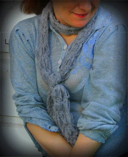 Post image for 365 Ways to Wear Crochet: Ribbon Scarf, Vintage Sweater
