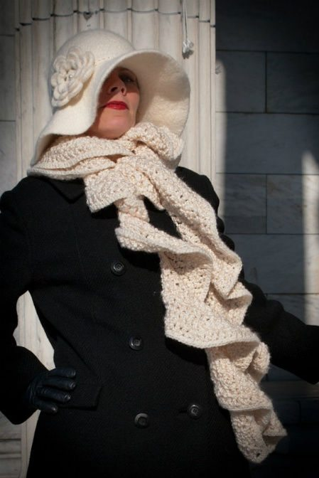 Post image for Etsy Crochet: 1920′s Inspired Felted Hat and Ruffled Scarf