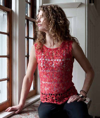 crochet shell top Custom Crocheted Sweaters Book Review, Interview and Giveaway