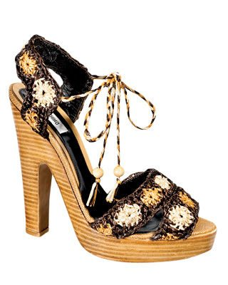 crochet shoes Designer Crochet: Franco Moschino