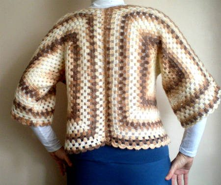 crochet shrug2 Etsy Crochet: Brown Bolero