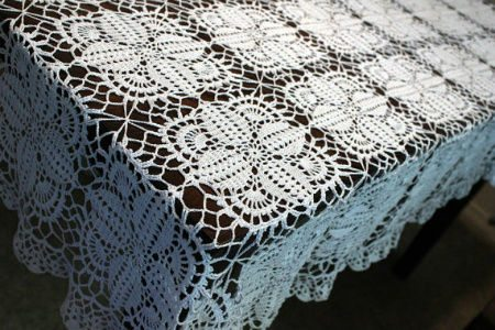 Free Crochet Oblong Tablecloth Patterns : Pics Photos - Beautiful Tablecloths Crochet Pattern