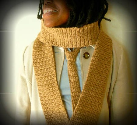 crochet tie scarf 100 Unique Crochet Scarves