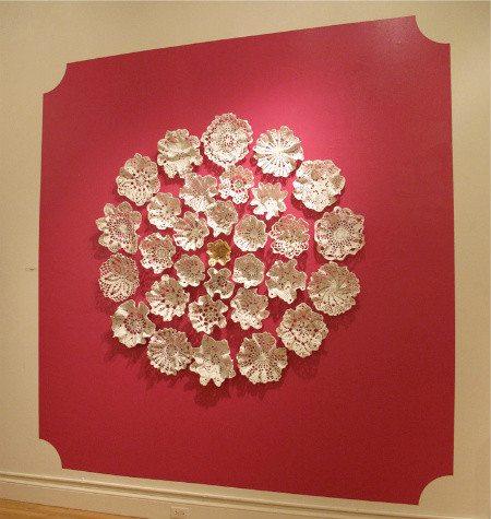 crochet wall art Porcelain Crochet Artist Kristen Wicklund