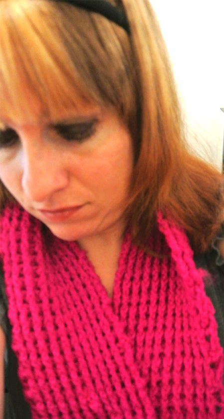 crochet2 365 Ways to Wear Crochet: Bright Pink with Grey