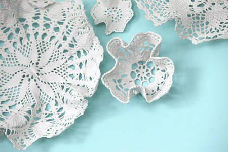 doily art Porcelain Crochet Artist Kristen Wicklund