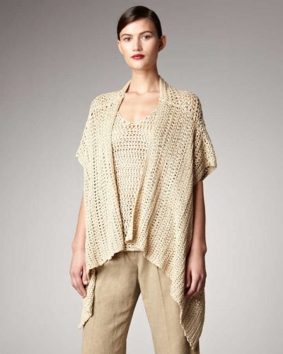 donna karan crochet kimono 400x500 100 Unique Crochet Shirts and Sweaters