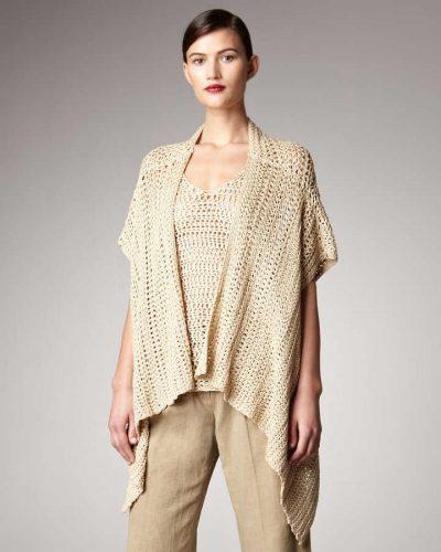 donna karan crochet kimono