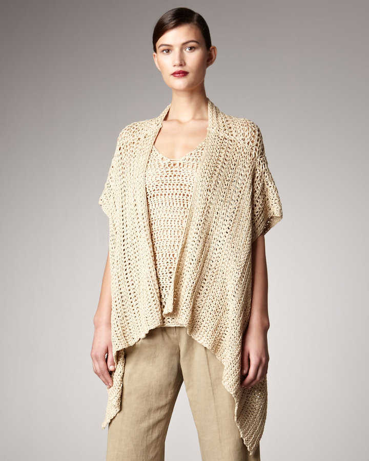 Donna Karan Crochet Kimono sold through Neiman Marcus