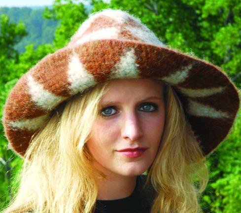 felted crochet hat