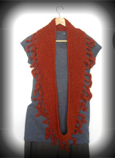 fringe crochet scarf 100 Unique Crochet Scarves