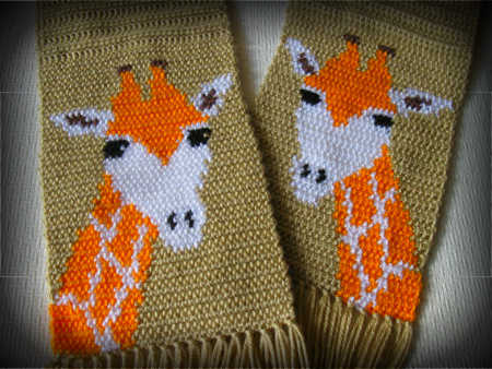 giraffe crochet scarf 100 Unique Crochet Scarves