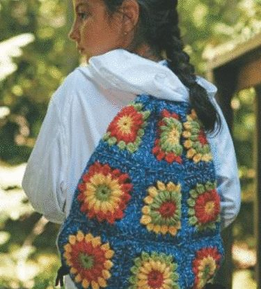granny square backpack