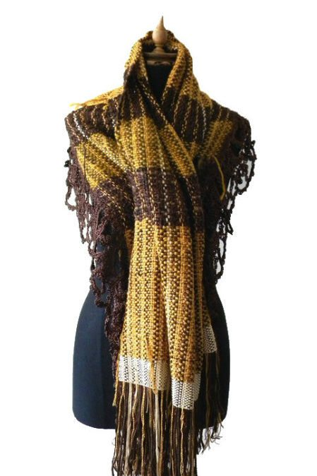 hand woven scarf 100 Unique Crochet Scarves