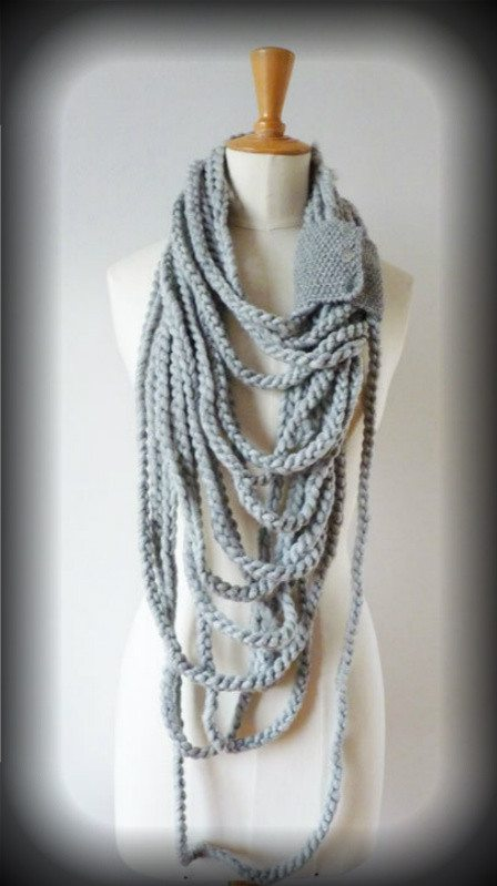 infinity chain loop scarf 100 Unique Crochet Scarves