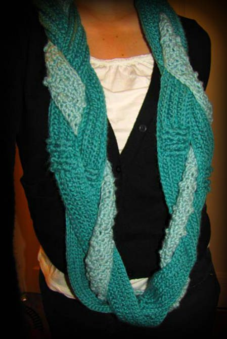 Free Patterns To And Crochet Infinity Scarf : 100 Unique Crochet Scarves