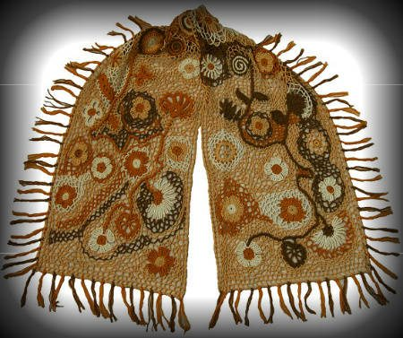 irish lace crochet scarf 100 Unique Crochet Scarves