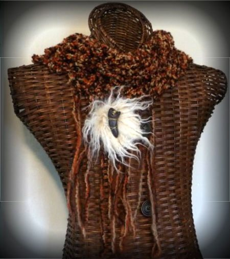 mens fur crochet scarf 100 Unique Crochet Scarves