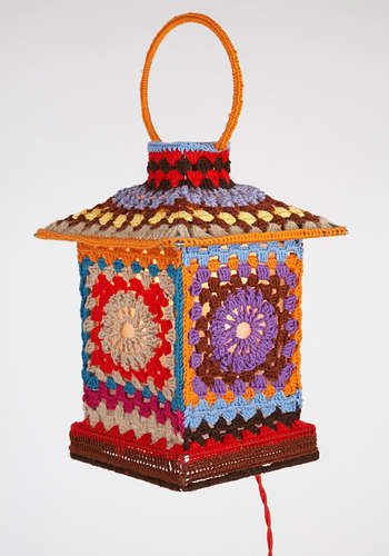 moschino granny square lamp 16 Crochet Lamps That Will Shed a New Light on Your Space
