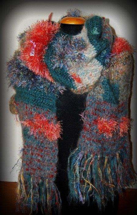novelty crochet scarf 100 Unique Crochet Scarves