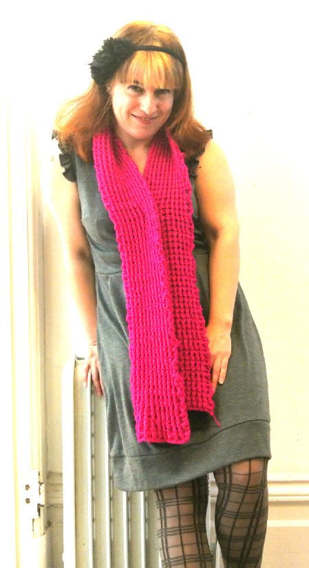 Post image for 365 Ways to Wear Crochet: Bright Pink with Grey