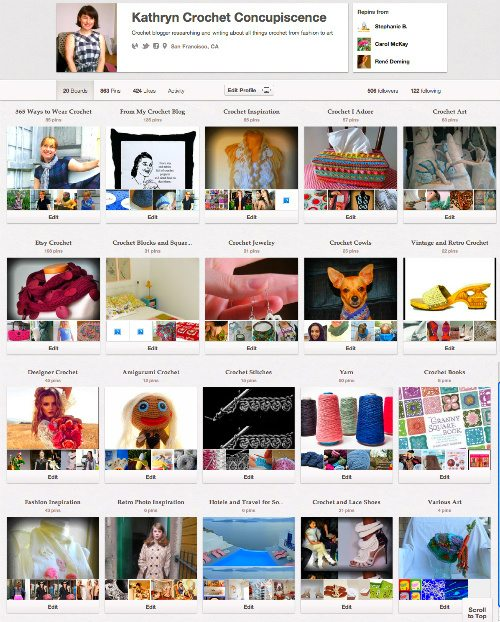 Post image for 5 Pretty Crochet Pinterest Boards
