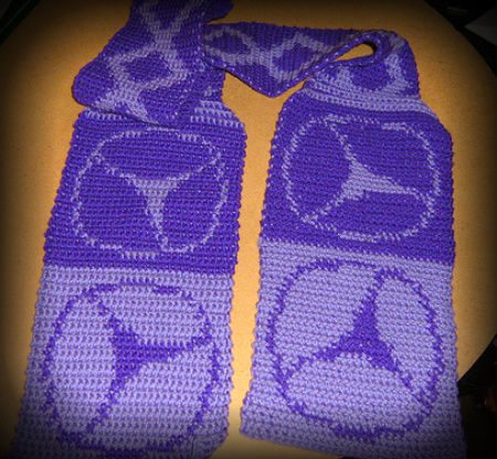 purple crochet scarf 100 Unique Crochet Scarves