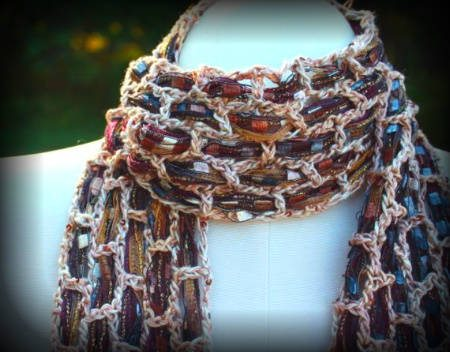 ribbon silk crochet scarf 100 Unique Crochet Scarves